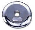 Dumbbell End Cap Plates -  Chrome