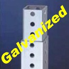 "1.5"" Telescopic Tubing - With Holes - Galvanized Finish - (24 ft)"