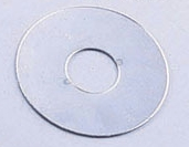 "1"" I.D. x 2.5"" OD Chrome Flat  Washers For Foam Roller Pads"