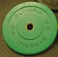 Olympic Bumper Plate Solid Rubber - 10 lbs - Green