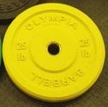 Olympic Bumper Plate Solid Rubber - 25 lbs - Yellow