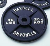 Standard Black Olympic Plate - 45 lbs