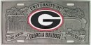 UGA Car Tag (Pewter Engraved)