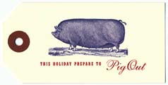 Pig Out Gift Tags