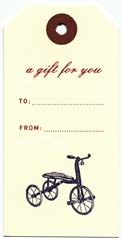 Tricycle Gift Tag