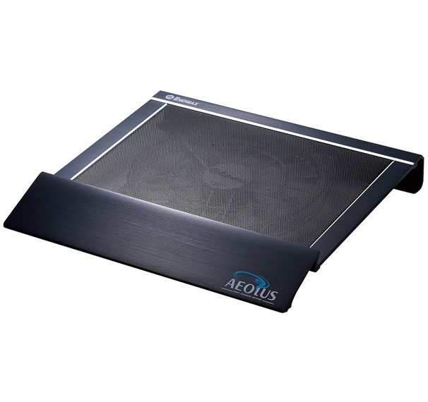 Enermax CP001-B CP001-S Aluminum Notebook Cooling Pad with 25cm LED Cooling Fan