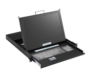 EPC480-B17 17 Inch 16:9 Ratio Wide Screen  LCD Monitor 20 Inch  Deep with 8 Ports KVM Switch
