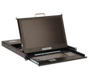 EPC490-B17 17 Inch 16:9 Ratio Wide Screen  Wide Screen LCD Monitor Military standard 20 Inch  Deep with 16 Ports KVM Switch