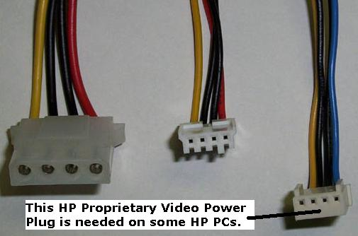 HP Pavilion 0950/1956 Replacement PS3 Power Supply w/ Video Connector