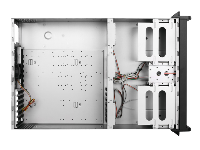 iStarUSA D-300 3U Aluminum Rackmount Chassis with Silver Color Door