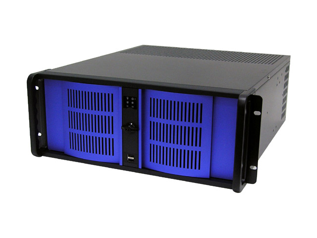 iStarUSA D-400 4U Rackmount Case with Blue Colors Door
