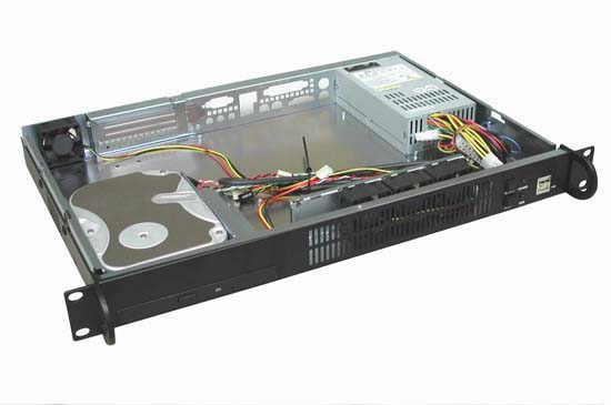 RM-1108 1U Rackmount Case 11.8 in. Mini ITX with 220W Power Supply