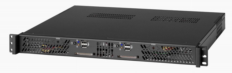 RM-1200 1U Dual Mini-ITX Rackmount  Chassis with Two 250W Power Supply