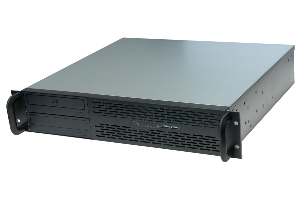 RM-2231 15.25 in Short Micro ATX 2U Rackmount Case, fits two 5.25 Bays