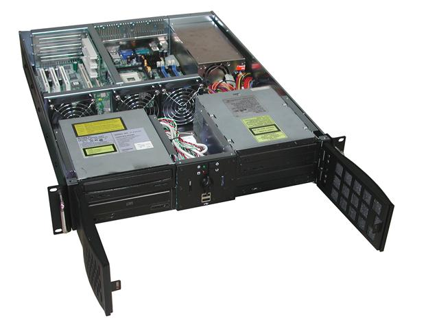 RM-2248 Double Doors 22.4 in. Deep 2U Rackmount Case