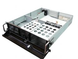 RM-2251 21.1 in. Deep 2U Rackmount Case, for ATX PS2 PS, Dual 5.25 Bay