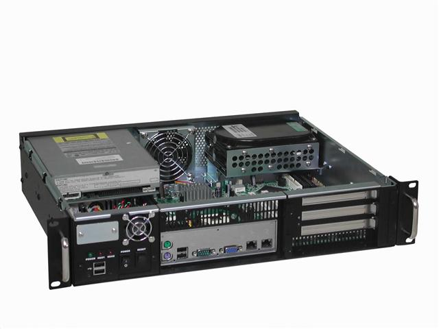 "RM-2253 Short 2U Rackmount Case 14.1"" Deep, Front Facing I/O"