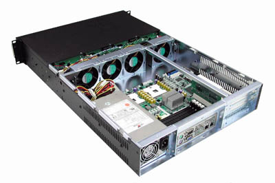 RM-2290 12 SATA Trays 2U Rack Mount Case, 500w Redundant Power Supply