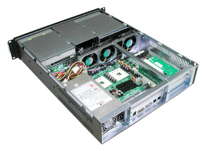 RM-2293 2U 4 x Hot-Swappable SATA II HD Trays with 500w Power Supply