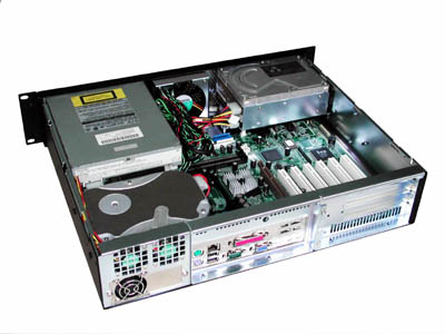 "RM-2520 13.9"" Short Version 2U Rack Mount Computer Case"