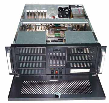 "RM-4045 4U Rackmount Case 17.7"" Deep with 8 x 5.25 Drive Bays"