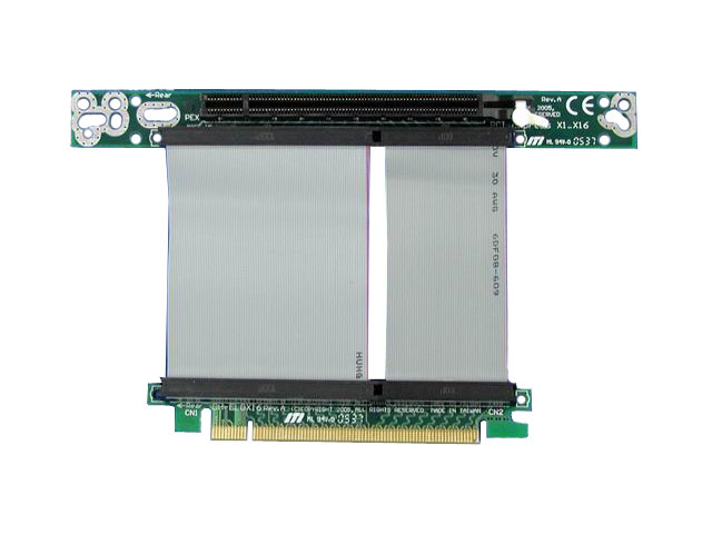 1U 1 x 16x PCI-Express Riser Card with 7cm Flex Cable