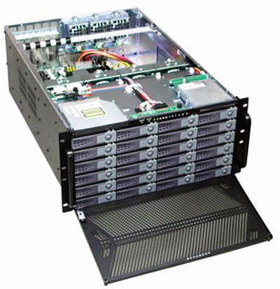 RM-5583 5U 24 Hot-Swappable HD Tray Rack Mount Case, Redundant PS