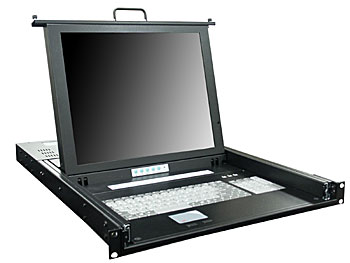 "1U 17"" Rack Mount LCD Monitor with 16 Ports KVM"