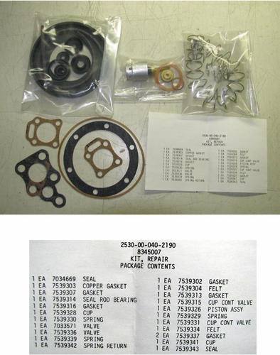 Rebuild kit for the M35 Truck Air Pack, 8345007