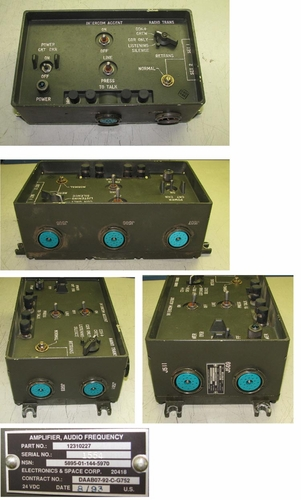 VIC-4 Intercom Master Control Unit, p/n 12310227