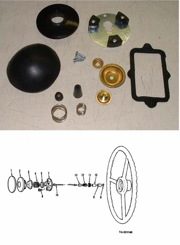 Horn Button Kit (old style) For M35/M54, 5702506