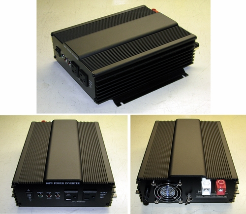 24 VDC to 120 VAC Inverter 600 Watt Pure Sine Wave, SSV 600-24