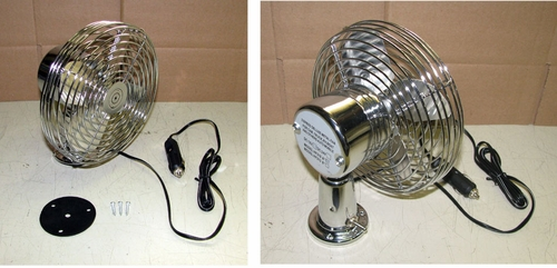 Dash Fan, All Metal Construction, 6 Inch, 12 Volt, 2 Speed, Model HF310