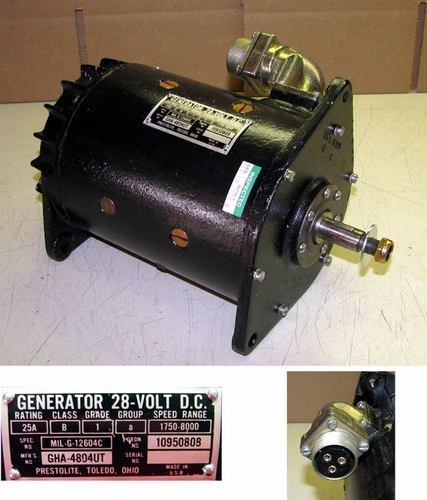 Generator, 28 Volt 25 Amp, For Older M-Series Vehicles, 10950808 / GHA-4804UT