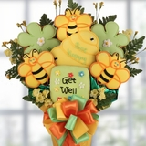 Get Well Bee Cookie Bouquet