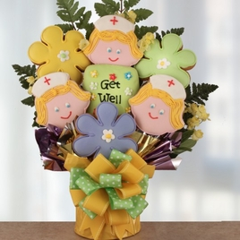 Get Well Wishes Cookie Bouquet - SOLD OUT