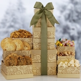 Holiday Gourmet Gold Gift Tower