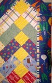 """Chevron Quilt As You Go Tablerunner Fabric Kit: """"In The Kitchen"""""""