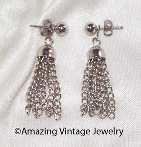 CLASSIC TASSEL Earrings - Silvertone