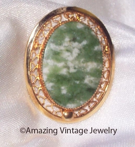 JADE OVAL Pin