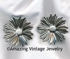 SUNFLOWER Earrings - Silvertone