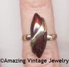 BURGUNDY TWIST Ring