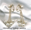 PEARL SHOWERS Earrings - Goldtone