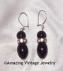 BLACK CHARMER Earrings - Wires