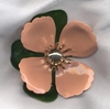 TAHITIAN FLOWER Pin - Peach
