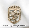 ROYAL CREST Pin/Pendant - Goldtone