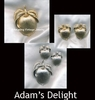 ADAM'S DELIGHT SET - Goldtone Pin, Silvertone Pin available