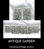 ANTIQUE GARDEN Set - 1963 - Earrings available