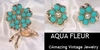 AQUA FLEUR Set - 1964 - Earrings available