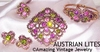 AUSTRIAN LITES - 1972 - Pin, Earrings, Bracelet, & Ring available